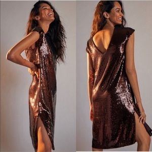 🆕 With Tag. Anthropologie Maeve Sequin Midi Dress